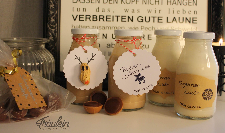 Diy Weihnachtsgeschenk Likoer Fraulein Stressfrei