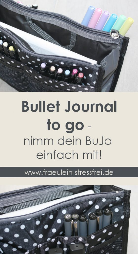 Bullet Journal to go - nimm dein BuJo einfach mit! Aufbewahrung für dein Bullet Journal und Stifte
