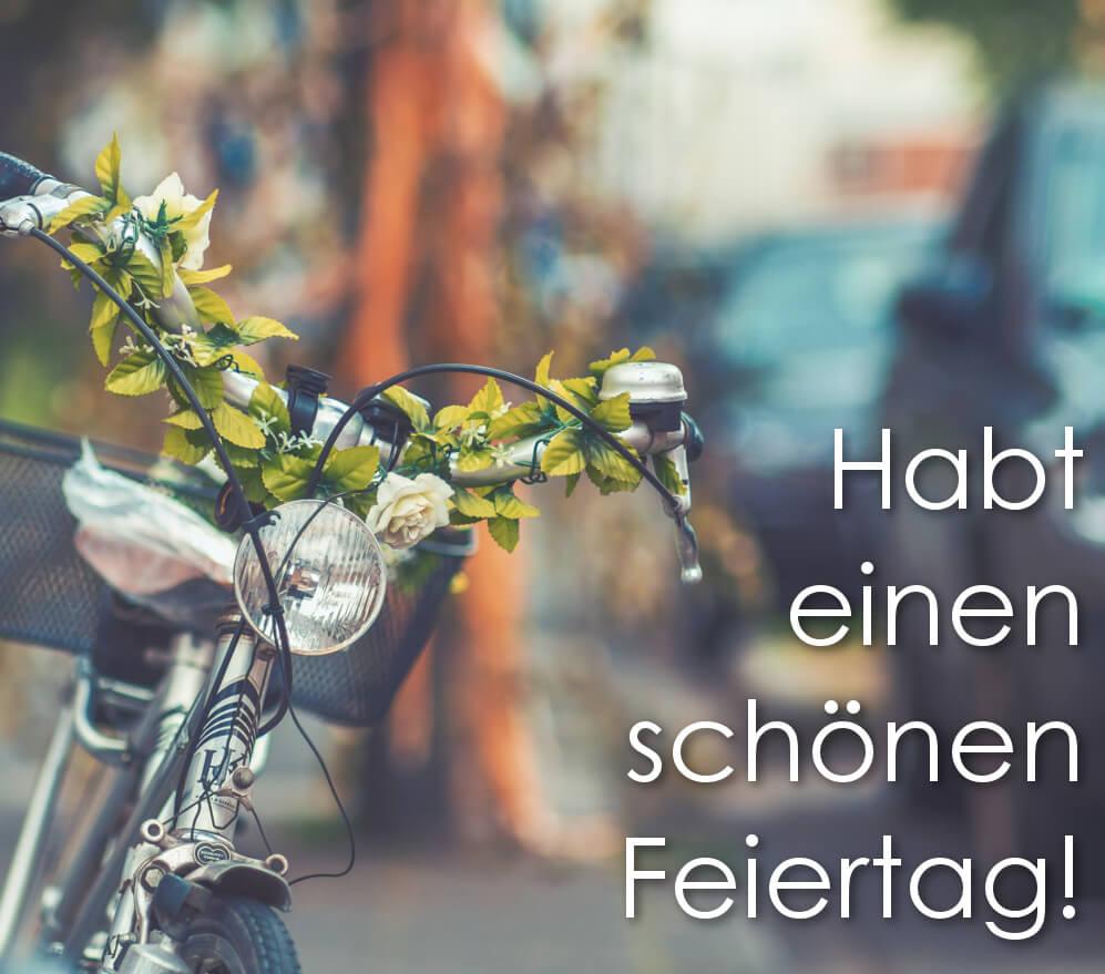 Habt einen schönen, stressfreien Feiertag!