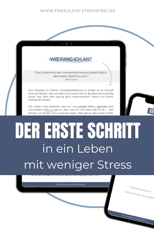 Der erste Schritt in ein Leben mit weniger Stress. Hol dir dein kostenloses PDF und beginne noch heute deine persönlichen Stressfaktoren zu analysieren und erstelle dein Stresstagebuch