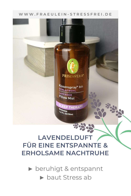 Lavendel - Kopfkissenspray für einen entspannten Start in die Nacht