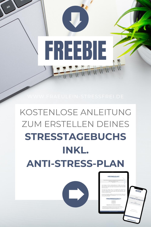 Stresstagebuch inkl. Anti-Stress-Plan - der erste Schritt in ein Leben mit weniger Stress - stressfreier Leben - sag deinen Stressoren den Kampf an
