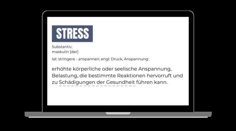 Eine Definition von Stress