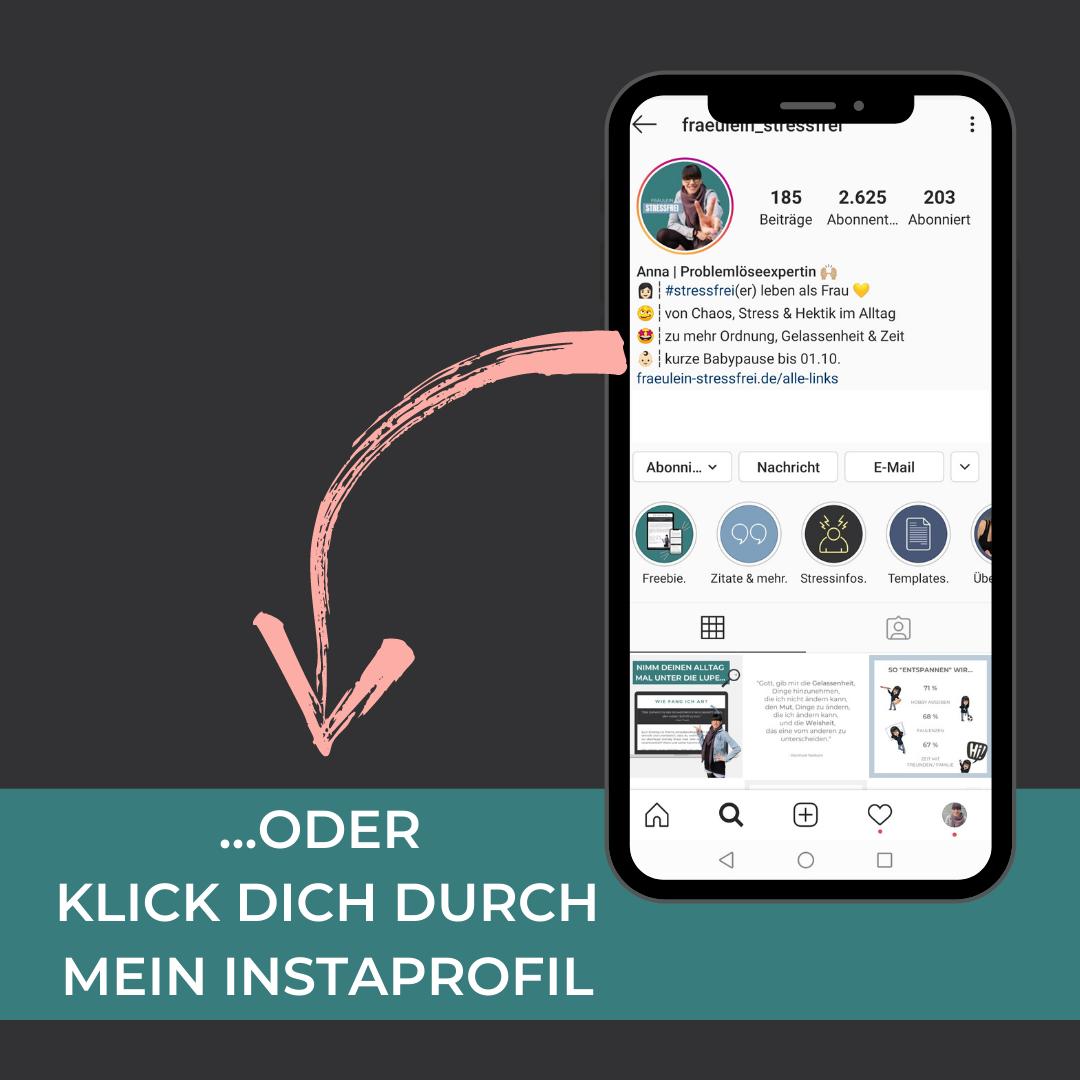 Klick dich durch Instagram