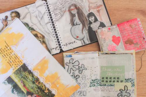 Art Journaling - bewahre deine Erinnerungen kreativ auf - Stressabbau durch kreatives Journaling